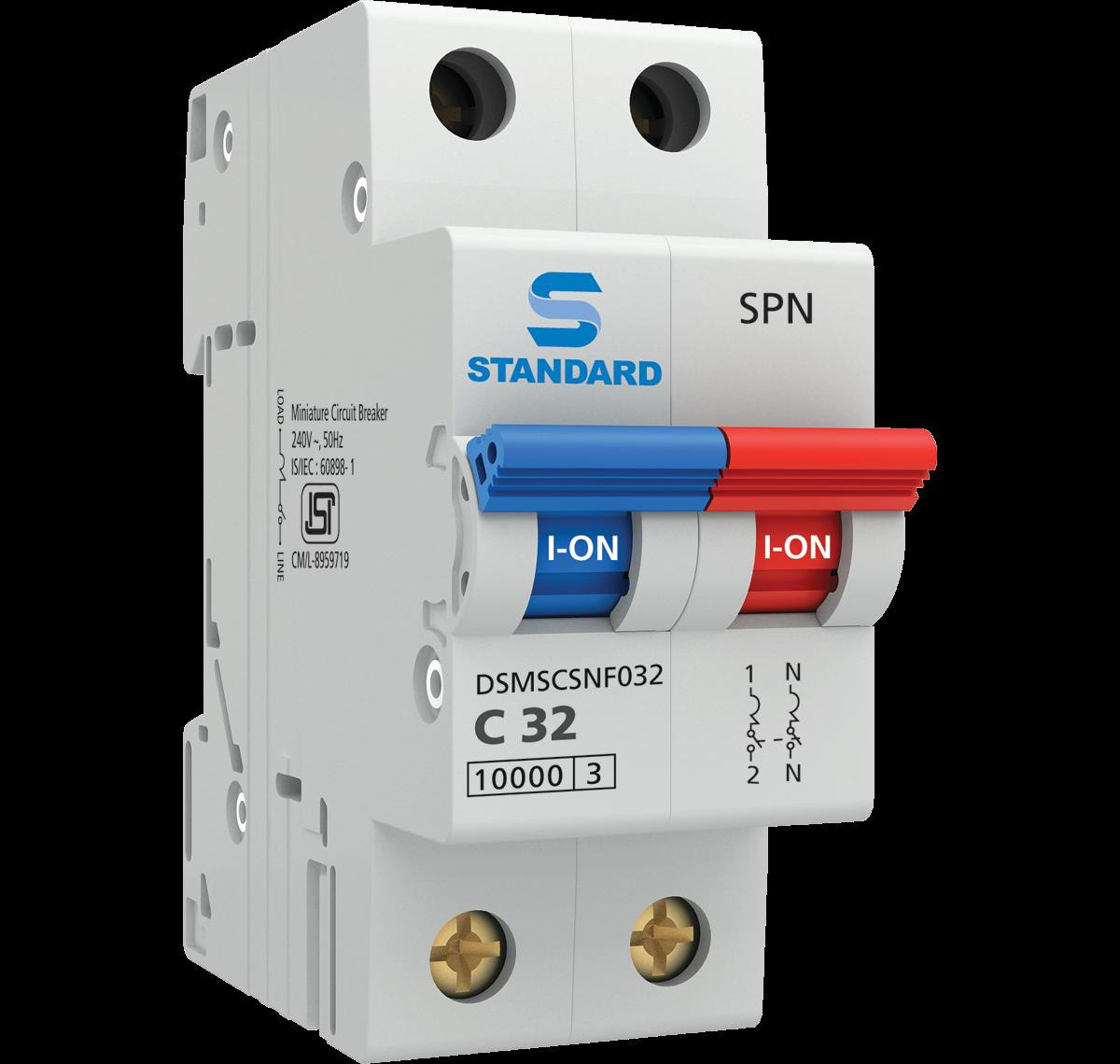 Miniature Circuit Breakers Mcb Switch Standard Electricals Mccb Breaker Spn C Curve 1 A